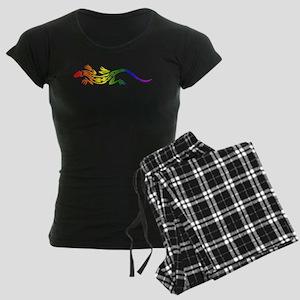 Rainbow Pride Lizard Women's Dark Pajamas