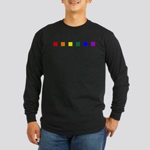 Rainbow Pride Squares Long Sleeve Dark T-Shirt