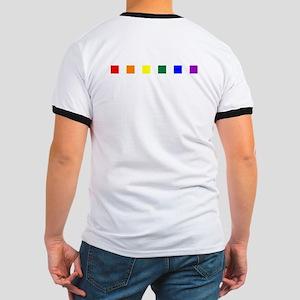 Rainbow Pride Squares Ringer T