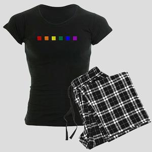 Rainbow Pride Squares Women's Dark Pajamas
