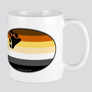 Oval Bear Pride Flag Mug