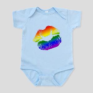Big Rainbow Lips Infant Bodysuit