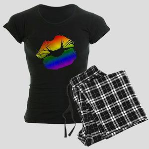 Big Rainbow Lips Women's Dark Pajamas