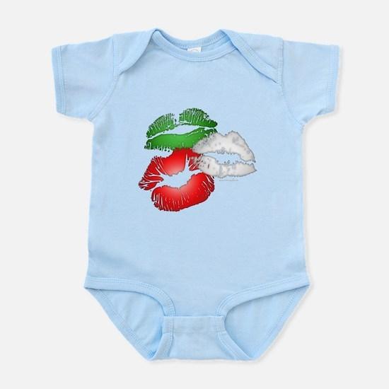 Italian Kissing Lips Infant Bodysuit