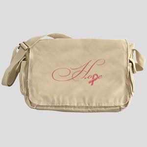 Hope - Pink Ribbon Breast Cancer Awa Messenger Bag