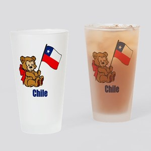 Chile Teddy Bear Drinking Glass