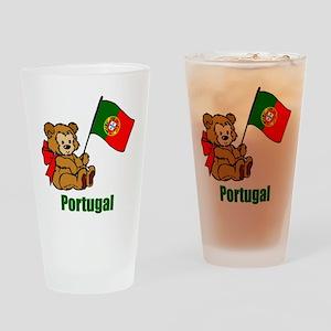 Portugal Teddy Bear Drinking Glass