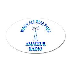 Amateur Radio 22x14 Oval Wall Peel