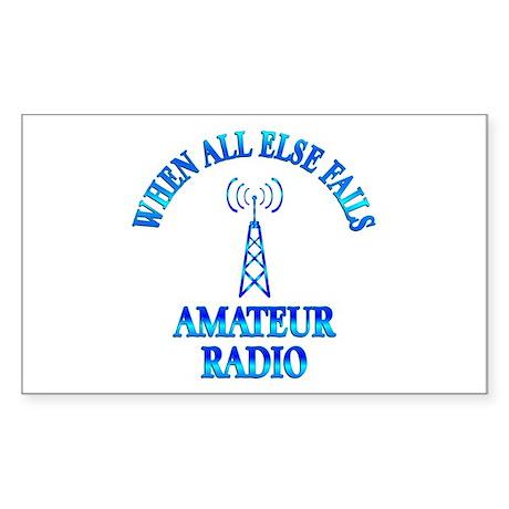 Amateur Radio Sticker (Rectangle)