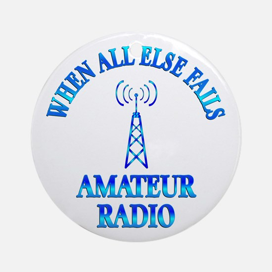 Amateur Radio Ornament (Round)