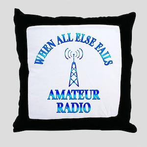 Amateur Radio Throw Pillow