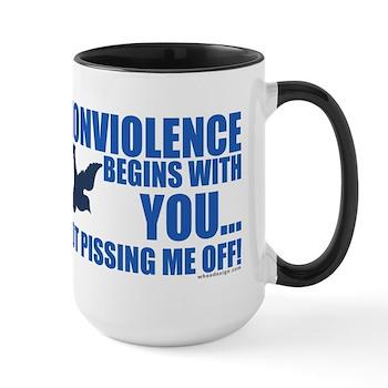 Nonviolence Begins with You... Large Mug