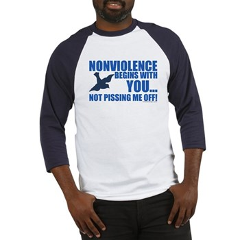 Nonviolence Begins with You... Baseball Jersey