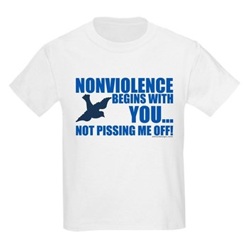 Nonviolence Begins with You... Kids Light T-Shirt