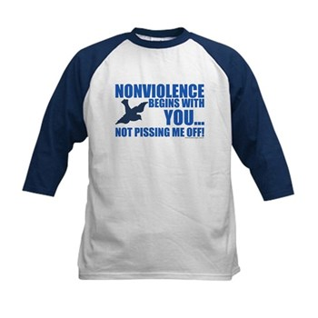 Nonviolence Begins with You... Kids Baseball Jerse