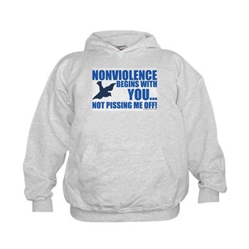 Nonviolence Begins with You... Kids Hoodie