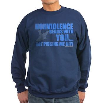 Nonviolence Begins with You.. Dark Sweatshirt