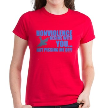 Nonviolence Begins with You... Women's Dark T-Shir