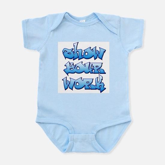 Show Your Work Graffiti Infant Bodysuit