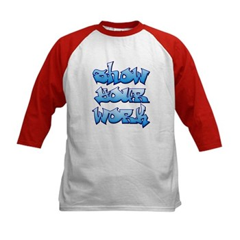 Show Your Work Graffiti Kids Baseball Jersey