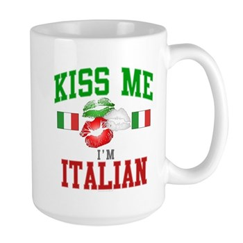 Kiss Me I'm Italian Large Mug