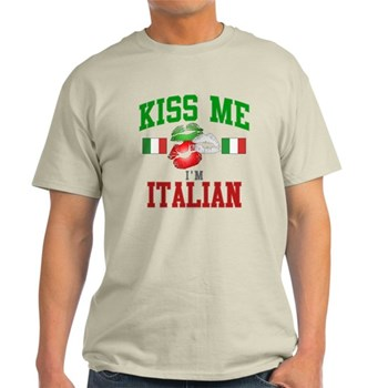 Kiss Me I'm Italian Light T-Shirt