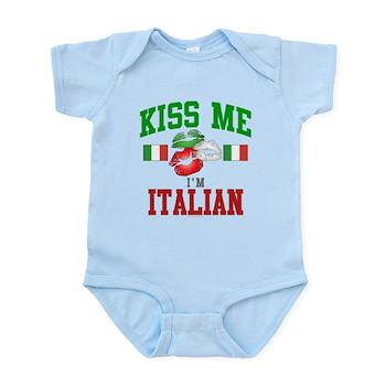 Kiss Me I'm Italian Infant Bodysuit