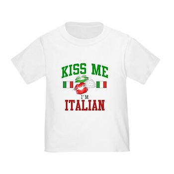 Kiss Me I'm Italian Toddler T-Shirt