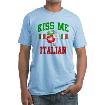 Kiss Me I'm Italian Fitted T-Shirt