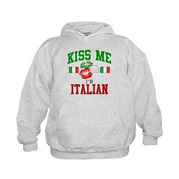 Kiss Me I'm Italian Kids Hoodie