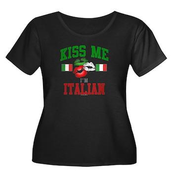 Kiss Me I'm Italian Women's Plus Size Sco