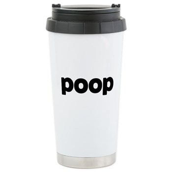 Poop Stainless Steel Travel Mug