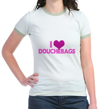 I Heart Douchebags Jr. Ringer T-Shirt