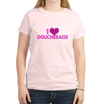I Heart Douchebags Women's Light T-Shirt