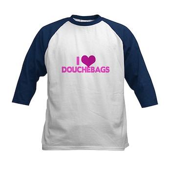 I Heart Douchebags Kids Baseball Jersey
