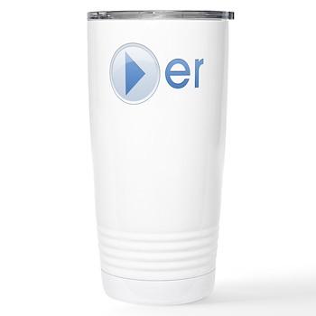 Player Stainless Steel Travel Mug
