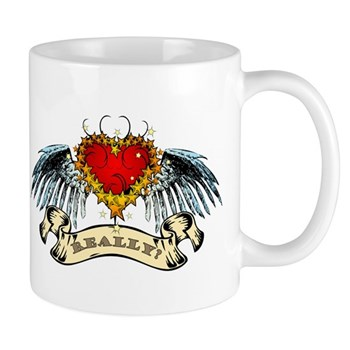 Really? Winged Heart Mug