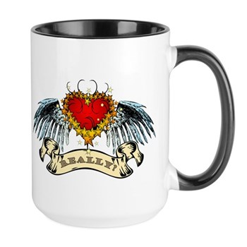 Really? Winged Heart Large Mug