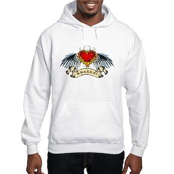 Really? Winged Heart Hooded Sweatshirt