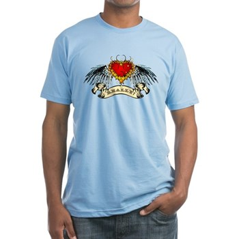Really? Winged Heart Fitted T-Shirt