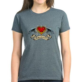 Really? Winged Heart Women's Dark T-Shirt