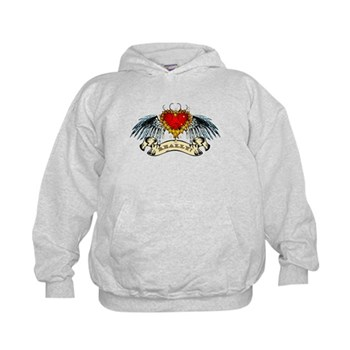 Really? Winged Heart Kids Hoodie