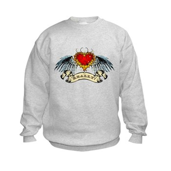 Really? Winged Heart Kids Sweatshirt