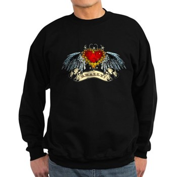 Really? Winged Heart Dark Sweatshirt