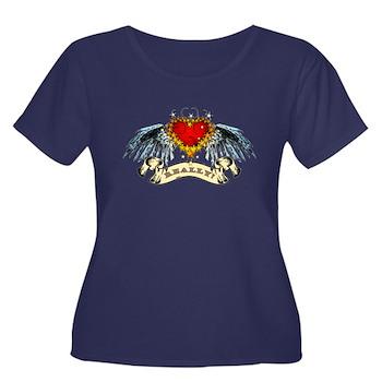 Really? Winged Heart Women's Plus Size Scoop Neck