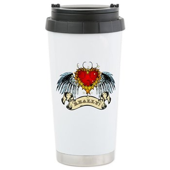 Really? Winged Heart Stainless Steel Travel Mug
