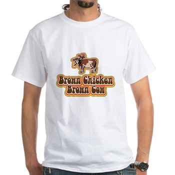 Brown Chicken Brown Cow 2 White T-Shirt