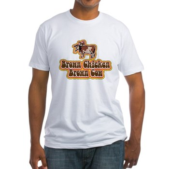 Brown Chicken Brown Cow 2 Fitted T-Shirt