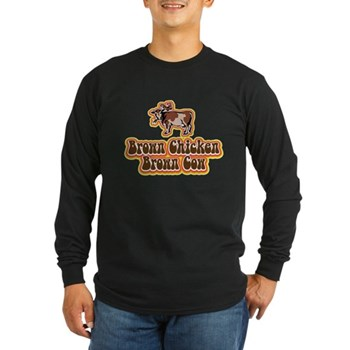 Brown Chicken Brown Cow 2 Long Sleeve Dark T-Shirt