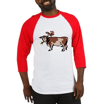 Brown Chicken Brown Cow 3 Baseball Jersey